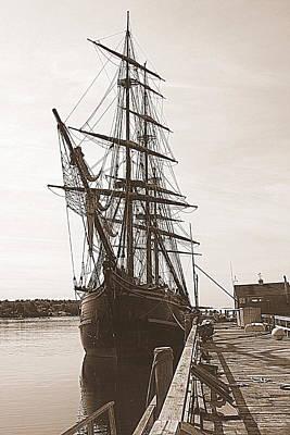 Maine Bounty Photograph - Tall Ship Bounty by Doug Mills