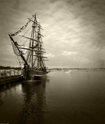 Photograph - Tall Ship In Newport by Stephen EIS