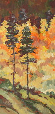 Landscape Painting - Tall Trees by Sandy Tracey