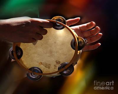 Vintage Photograph - Tambourine by Danuta Bennett