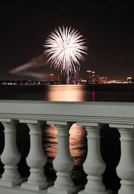 Tampa Bay Fireworks Print by David Lee Thompson