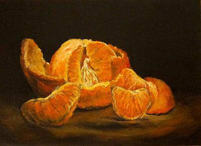 Tangerine Painting - Tangerine Tango by Diane Kraudelt