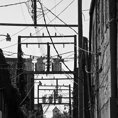 Telephone Poles Photograph - Tangled Power by David Waldo