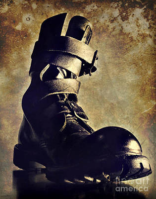 Tank Boot Print by HD Connelly