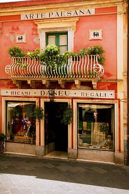 Sicily Digital Art - Taormina by John Galbo