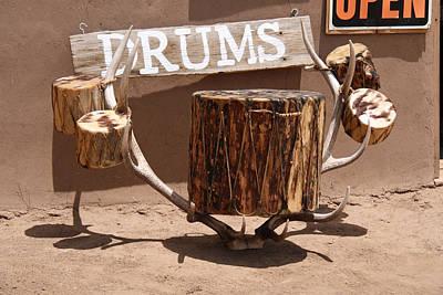 Elizabeth Rose Photograph - Taos Drum Shop by Elizabeth Rose