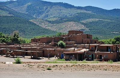 Taos Pueblo - 2  Print by Dany Lison