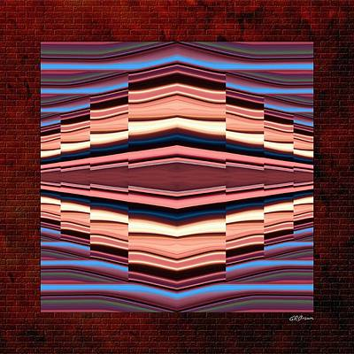 Pixel Stretching Digital Art - Tapestry On A Brick Wall by Greg Reed Brown
