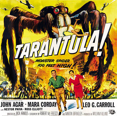 1955 Movies Photograph - Tarantula, Bottom From Left John Agar by Everett