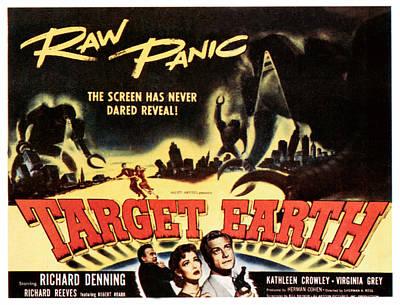 Target Earth, Bottom Center Kathleen Print by Everett