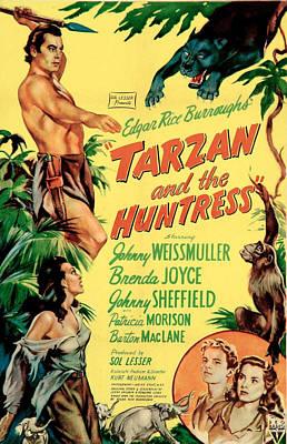 Tarzan And The Huntress, Patricia Print by Everett