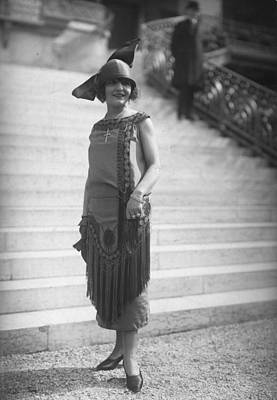 Cloche Hat Photograph - Tassel Dress by Seeberger Freres