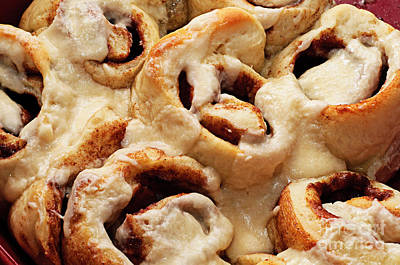 Taste Of Home Cinnamon Rolls Print by Andee Design