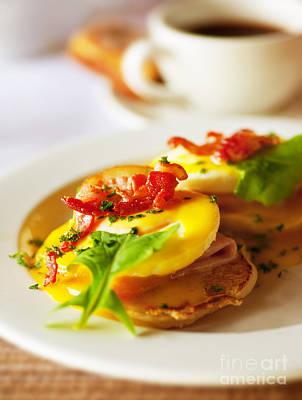 Tasty Breakfast Eggs Print by Anna Omelchenko