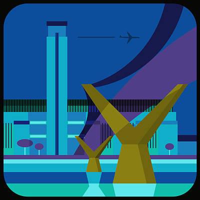 Building Exterior Digital Art - Tate Gallery And Millennium Bridge, London, United Kingdom by Nigel Sandor