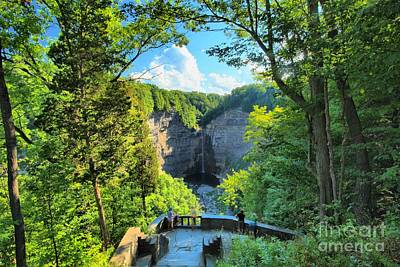 Taughannock Falls State Park Photograph - Taughannock Falls Overlook by Adam Jewell