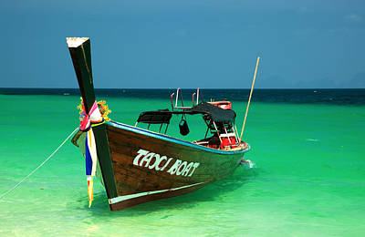 Crystal Photograph - Taxi Boat by Adrian Evans