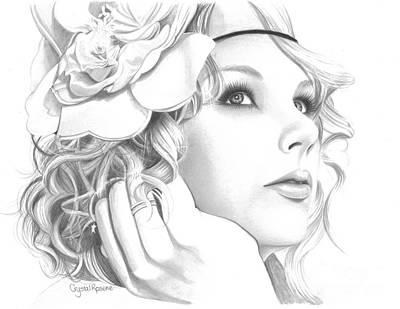 Taylor Swift Drawing - Taylor Swift by Crystal Rosene
