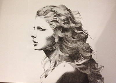 Taylor Swift Drawing - Taylor Swift by Richie Wentworth