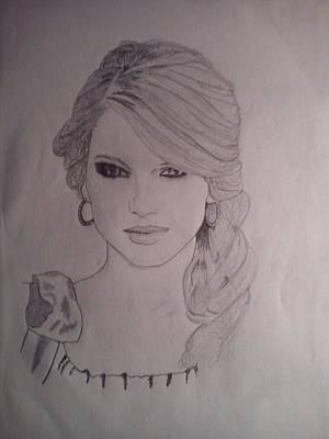 Taylor Swift Drawing - Taylor Swift by Vikram Balaji