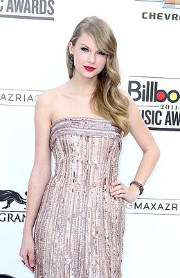 Taylor Swift Wearing An Elie Saab Gown Print by Everett
