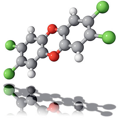 Tcdd Dioxin Molecule Print by Laguna Design
