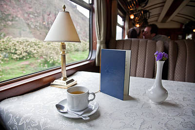 Tea Is Served By Peru Rail On The Way Print by Michael &Amp Jennifer Lewis