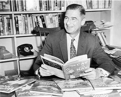 2008-2 Photograph - Ted Geisel Dr. Seuss 1904-1991 Seated by Everett