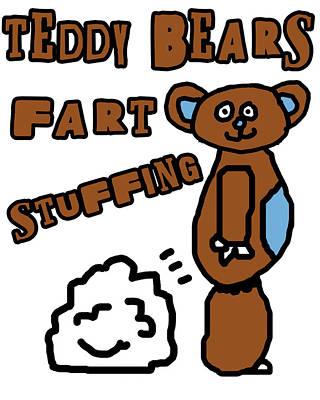 Adorable Digital Art - Teddy Bears Fart Stuffing 1 by Jera Sky