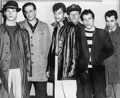 Teenage Members Of The Brooklyn Puerto Print by Everett