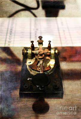 Early 1900s Photograph - Telegraph Key by Stephanie Frey