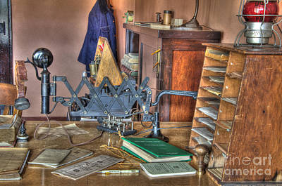 Telegraph Office At Kelso Print by Bob Christopher