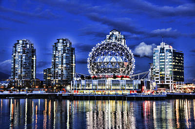 Telus Science Center Vancouver Bc Print by Lawrence Christopher