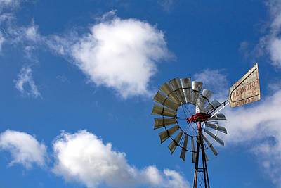 Temecula Wine Country Windmill Print by Peter Tellone