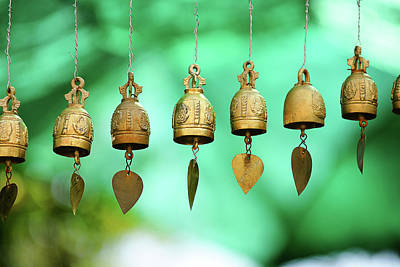 Medium Group Of Objects Photograph - Temple Bell by SkYGoN