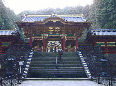 Traditional Photograph - Temple Entrance by Naxart Studio
