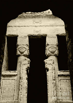 Temple Of Hathor Print by Photo Researchers, Inc.