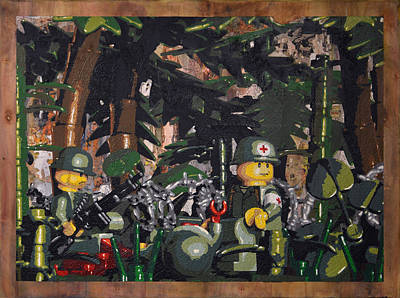 Tending To The Wounded Vietnam Original by Josh Bernstein
