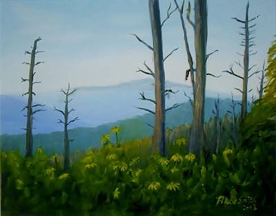 Great Smokey Mountains Painting - Tennessee Mts. by Phebe Smith