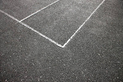Asphalt Photograph - Tennis Court by Richard Newstead