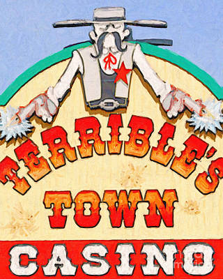 Old Town Digital Art - Terribles Town Casino by Wingsdomain Art and Photography