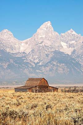 Teton Mormon Barn Print by Bob and Nancy Kendrick