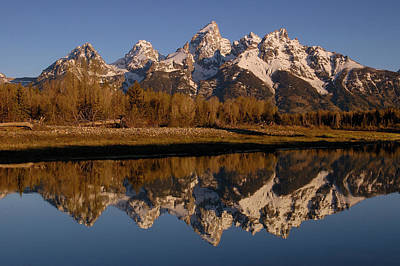 Mountain Range Photograph - Teton Range, Grand Teton National Park by Pete Oxford