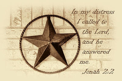 Jonah Photograph - Texas Iconic Star by Linda Phelps