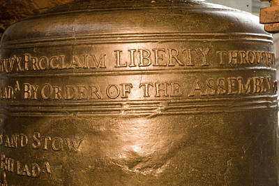 Text On The Liberty Bell Print by Tim Laman