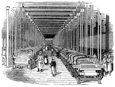 Handloom Photograph - Textile Manufacture, 1830 by Granger