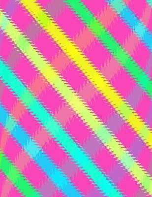 Loud Digital Art - Textured Check by Louisa Knight