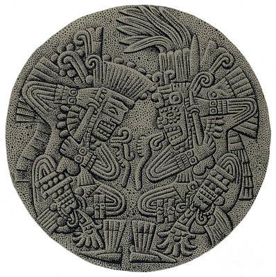 Sacrificial Photograph - Tezcatlipoca And Huitzilopochtli by Photo Researchers