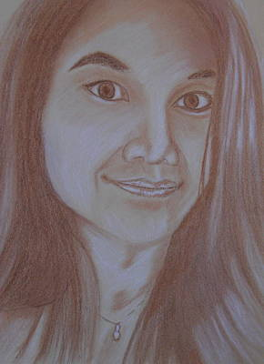 Pastel Drawing - Thai Girl by Michael Brennan