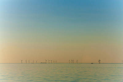 Reculver Photograph - Thanet Wind Farm by Dawn OConnor